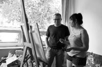 15. Międzynarodowy Plener Artystyczny-Artyści w trakcie pracy